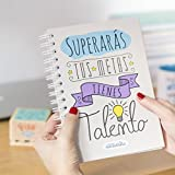 La Mente es Maravillosa | Cuaderno A5 original con divertidas pegatinas | Superarás tus metas,...