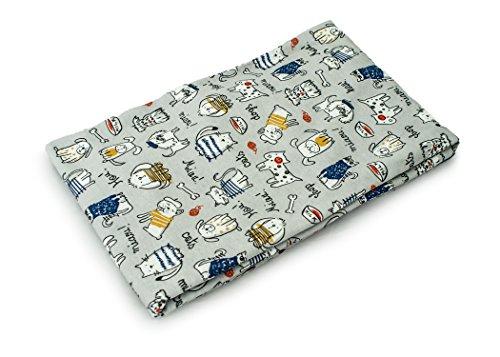 rt als Meterware  Muster: Hunde und Katzen auf grau 100cm x 160cm 92% Baumwolle, 8% Elasthan Mehrere Farben zur Auswahl Jersey 1buy3 (Nähen Muster Leggings)