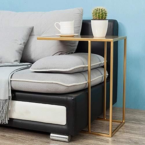 LXD Multifunktionsnachttisch, Haushaltssofaseitenende-Tabelle Fernsehbehälter-Beistelltisch C-förmige Tabelle Laptop Holderend Stand Desk Coffee Side Table -