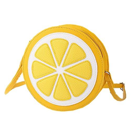 Ularmo Damen Mädchen Mode stilvolle Runde Zitrone Schultertasche