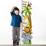 wall art -Adesivo da Muro per Bambini graduato con Motivo Amici Animali, 30x 120x 0,1cm, R00219