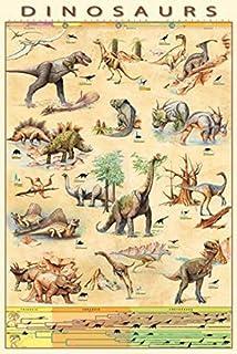 Reproduction Haut de Gamme Poster 13 x 18 cm Nouveau Poster Dino Alphabet de Kidz Collection//Editors Choice