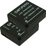 2 x Dot.Foto Batterie de qualité pour Panasonic DMW-BLE9, DMW-BLE9E, DMW-BLG10,...