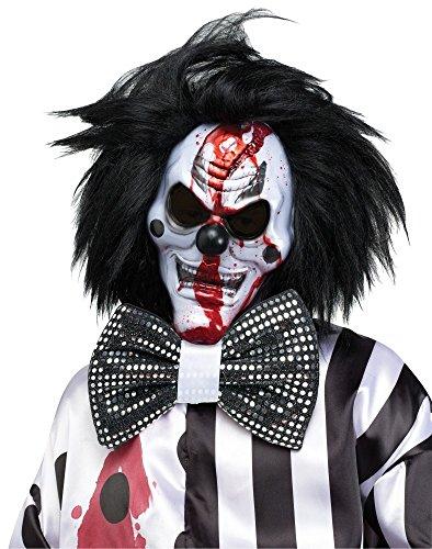 shoperama Killer Clown Maske mit fließendem Blut Inklusive Pumpe Horror Halloween