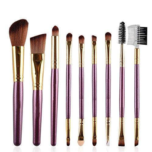 HimanJie 9 Pcs pinceaux de maquillage maquillage fard à paupières poudre Blush brosse cosmétiques professionnels Fondation poudre Brush Kits la valeur