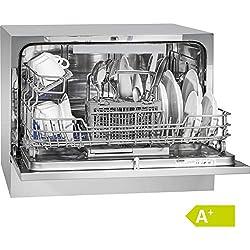 Bomann TSG 708 Lave-vaisselle/Classe énergétique A+ / 174 kWh/an / 6 indicateurs de contrôle MGD/LED / 5 programmes/argent [Classe énergétique A