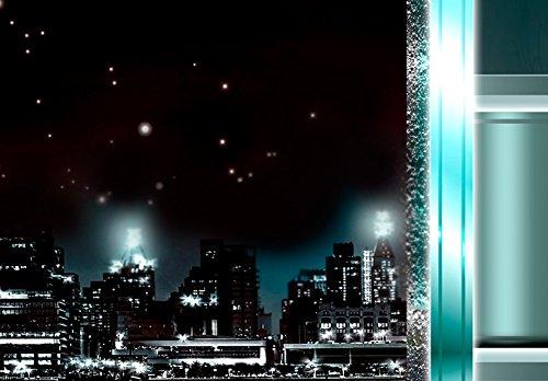 Bilder 200×100 cm – 3 Farben zur Auswahl ! XXL Format! Fertig Aufgespannt TOP Vlies Leinwand – 5 Teilig – New York Abstrakt Wand Bild Bilder Kunstdrucke Wandbild 020111-29 200×100 cm B&D XXL - 4