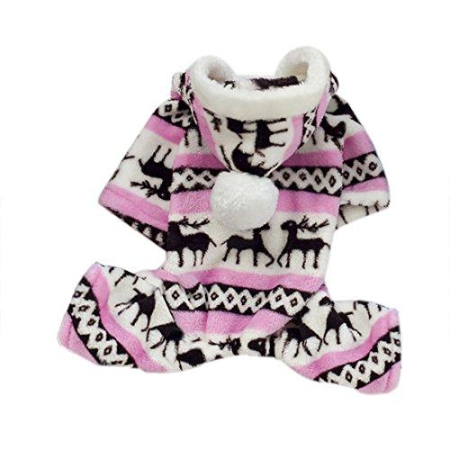 Hunde Kleidung Hirsch Kostüm Kleidung Jacke Hoodie Mantel Größe S (Cute Dog Kostüme Muster)
