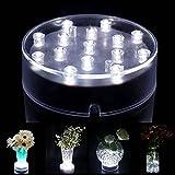 Atcket (Wei?es Licht) 4 Zoll Acryl runde LED Vase Base Light mit 15 super hellen Leds f¨¹r Vasen Tischdekoration