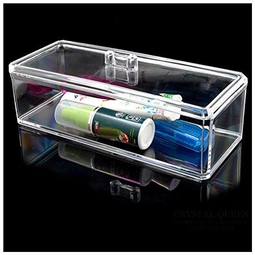 Rokoo Boîte de rangement de bijoux en acrylique transparent Boîte de rangement Organisateur de toilette Outil anti-poussière