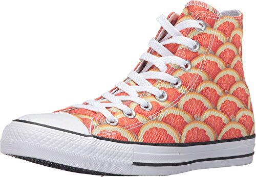 Converse Chuck Taylor All Star Fruit Print Hi Top Fashion Sneaker Shoe - Orange/White/Black - Mens - 10.5 Converse-hi-tops