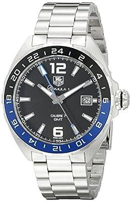 Tag Heuer Reloj de hombre automático correa y caja de acero cristal de zafiro dial negro WAZ211A.BA0875
