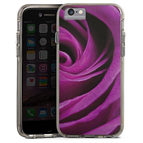 Apple iPhone 6s Bumper Hülle Bumper Case Glitzer Hülle Lila Rose Romantik Bumper Case transparent grau