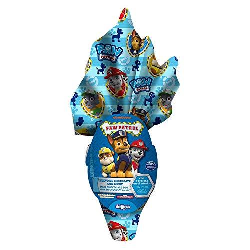 Preisvergleich Produktbild Paw Patrol Milchschokolade Osterei Große Größe 120g Junge + Überraschungs-Innere (EXKLUSIV) Marshall Chase Rubble