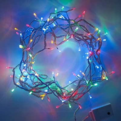 100er LED Lichterkette bunt 8 Programme, Innen Aussen von Lights4fun auf Lampenhans.de