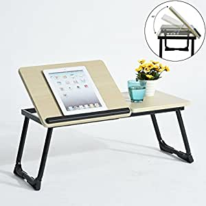 Portable Laptop Stand table Coavas Adjustable Notebook Stand Folding Computer Laptop Table Reading Stand Desk (black)