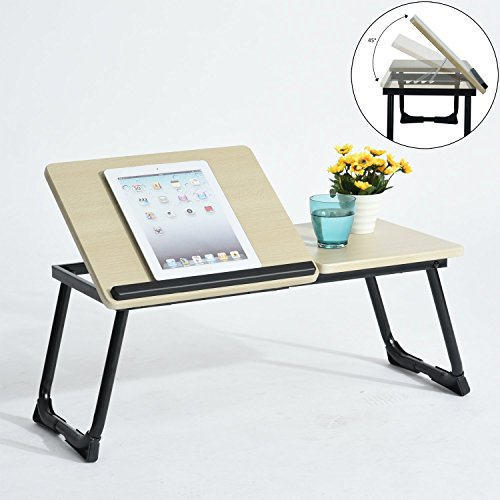 Coavas Portable Bed Laptop Tray Stand Folding Laptop Desk Table Computer Notebook Bed Tray