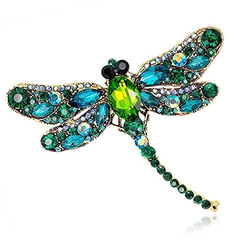 LUFA Rhinestone Dragonfly Brooch Pin Animal Brooch Women Dress Scarf Brooch Pins