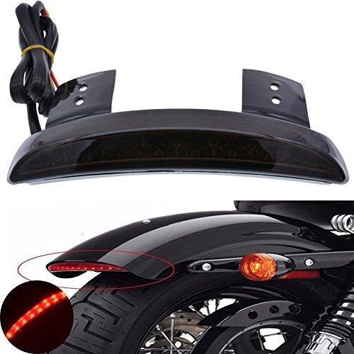 Tuincyn moto parafango posteriore rosso lente tritato Edge fanale posteriore freno targa LED luce stop luci di ricambio per Harley Sportster XL883N 1200N XL1200V XL1200x
