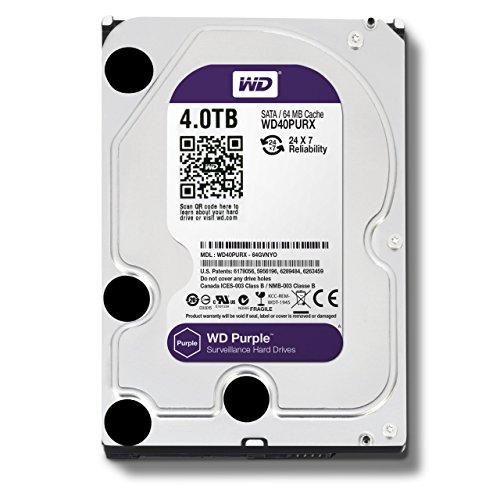WD 4TB Purple Surveillance Internal Hard Drive (WD40PURX)