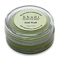 Khadi Herbal Kiwi Fruit Lip Balm (With BeesWax & Shea Butter),10g(pack of 3)