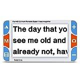 Digital Video Magnifier, 5.0 Zoll Handportable Mobile Elektronische Lesehilfe Leselupen für sehbehinderte, Senioren, Makuladegeneration, Menschen mit hoher Kurzsichtigkeit. (5.0LCD)