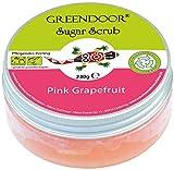 Greendoor Körperpeeling Sugar Scrub Pink Grapefruit, 100% NATÜRLICHES Zucker Peeling ohne Mikroplastik, Duschpeeling ohne Konservierungsmittel, 230g, Naturkosmetik, kraftvolles natürliches Körper Peeling, Hautpeeling, Body Scrub Natur, Greendoor Premiumversand