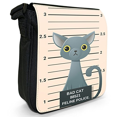 Fancy A Snuggle, Borsa a tracolla donna Gegenüberstellung Polizei Russisch Blau Katze