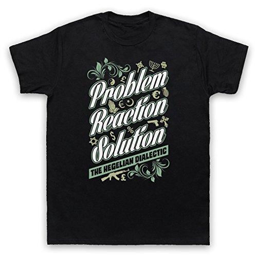Problem Reaction Solution The Hegelian Dialectic Herren T-Shirt Schwarz
