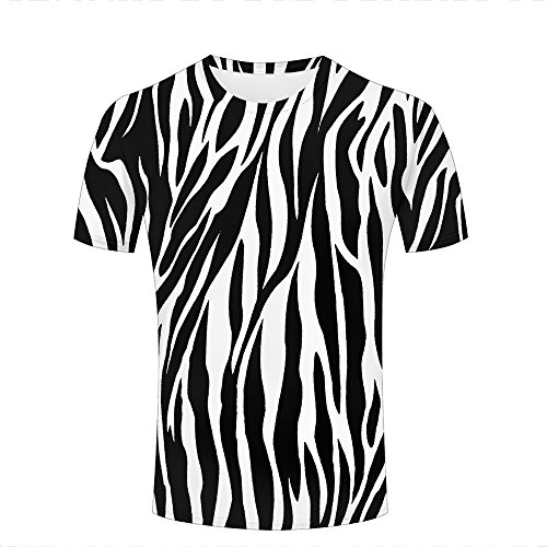 Mens Womens 3D Printed Casual T-Shirts Texture Zebra Stripes Graphics Crewneck Short Sleeve Fashion Couple Tees L -