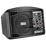 Neewer Altoparlante Stereo Impianto di Diffusione Sonora con Piccolo Display & Telecomando, Mixer a 3 Canali, 2 Bande EQ, Altoparlante Amplificatore con Mixer (NW-PSM05R)