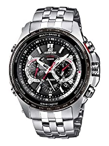 Reloj de caballero CASIO Edifice Solar EQW-M710DB-1A1ER de cuarzo, correa de acero inoxidable color plata de Casio