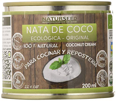 Naturseed - Nata de coco ecológica Original para cocinar, sin lactosa