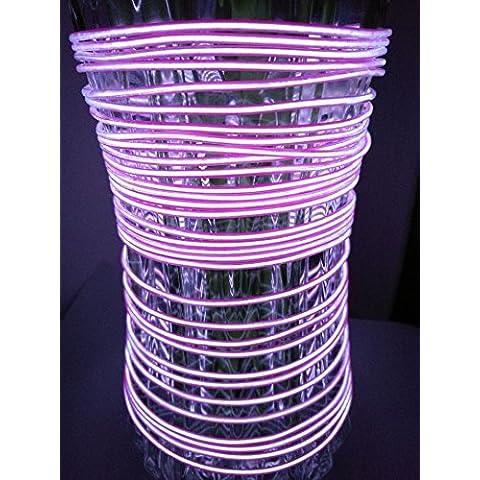MuLucky 3M EL cable del tubo de la cuerda de la batería Powered Decoración de la boda de neón flexible del partido del coche Luz con el regulador