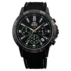 Orient Reloj Cronógrafo para Hombre de Cuarzo con Correa en Caucho FKV00006B0