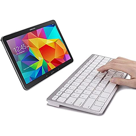 Sparin Ultra delgado Mini teclado Bluetooth para Samsung Galaxy Note 10.1 2014 Edition, Galaxy Tab 2, Galaxy Tab 3, Samsung Galaxy Note 8,0, Galaxy Note 10.1 (2012 Edition) y otros tablets