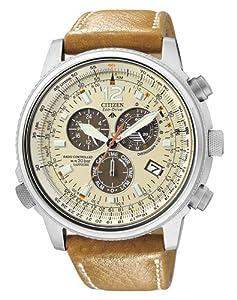 Citizen Promaster AS4020 44B Reloj cron grafo de cuarzo para hombre correa de cuero color marr n