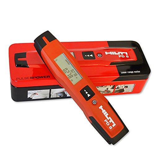 Hilti PD 5Laser-Entfernungsmesser, 0,25 bis 100m, Handbetrieb, - Target Shooting Kunststoff