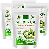 Moringa 480 oleifera 'veggie' altas dosis de 600mg cápsulas - 100% de alimentos crudos vegano (4x120 cápsulas)