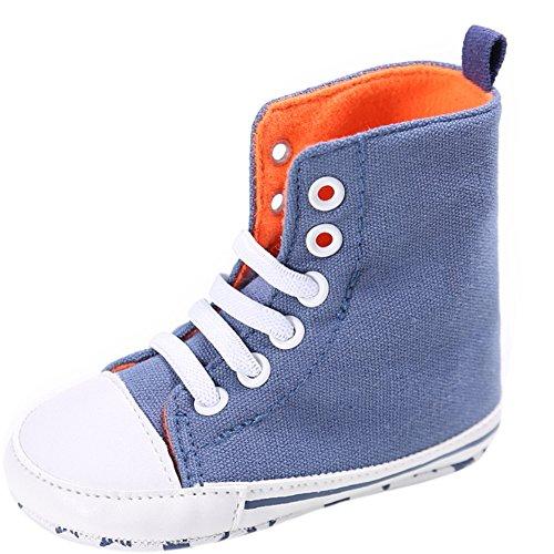 Etrack-Online  Baby Sneakers, Baby Jungen Lauflernschuhe Hellblau