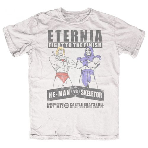 He-Man Herren T-Shirt He-man Vs Skeletor Weiß