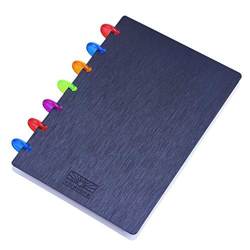 Rancco® Visitenkartenbuch Halterung, 120 Karten Visitenkartenmappe Journal Name Card Buch Kreditkarte Fall mit 5 Seite Trennwände(7.1*6 inch)