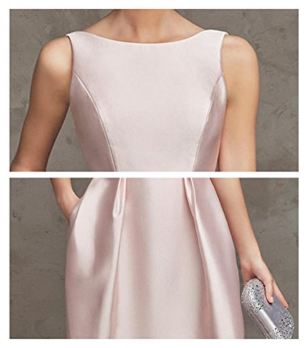 Drasawee - Robe - Trapèze - Femme rose clair
