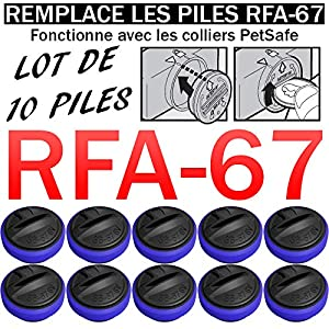 Lot DE 10 Piles SB-67 Compatible PETSAFE RFA-67 6V Lithium | REMPLACE Les Piles RFA-67 | pour Collier PETSAFE | Anti-Fugue | Anti-ABOIEMENT | Dressage ETC.