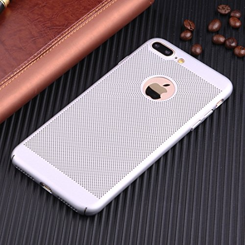 Leichte Breathable Full Coverage PC Shockproof Schutzhülle für iPhone 7 Plus by diebelleu ( Color : Silver ) Silver