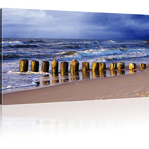Bild auf Leinwand Wellen Kunstdruck Strand Wandbild Ozean Leinwandbild