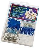 Grußkarten-Bastelset mit 5 karten - Blau