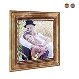 2er Set Bilderrahmen 10×10 cm Gold Barock Antik Massivholz mit Glasscheibe und Zubehör / Fotorahmen / Barock-Rahmen - 3