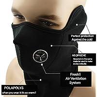 Shuzhen,Máscara a Prueba de Viento Unisex DustProof Media Cara para la Motocicleta de Invierno Ciclismo Senderismo Skateboard Esquí Pesca Senderismo Caza(Color:Negro)