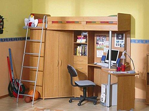 Etagenbett Jugendzimmer set mit Leiter Links Erle B01N7BOR73
